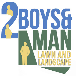 Two Boys and a Man Lawn Care & Landscape Logo