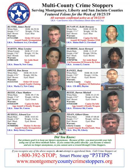 Featured Felons - 10/25/19