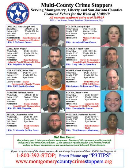 Featured Felons - 11/08/19